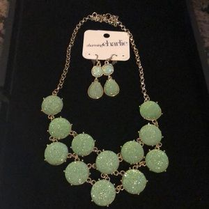 Charming Charlie's necklace & Earrings set